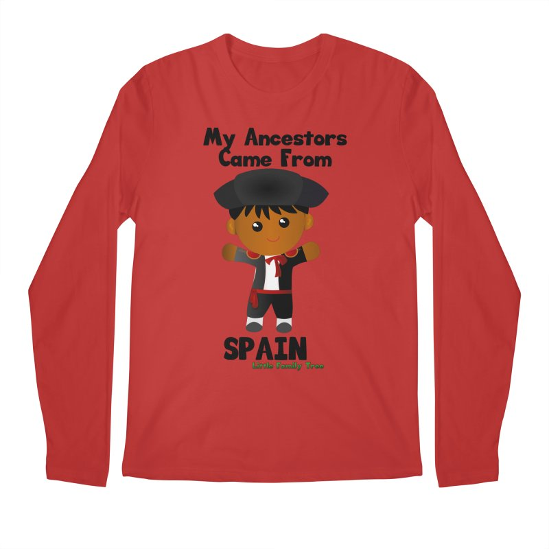 Spain Ancestors Boy Men's Longsleeve T-Shirt by Yellow Fork Tech's Shop