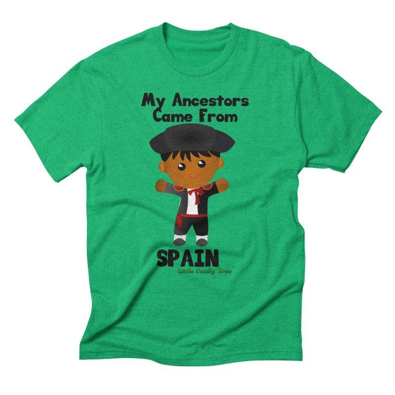 Spain Ancestors Boy Men's Triblend T-shirt by Yellow Fork Tech's Shop
