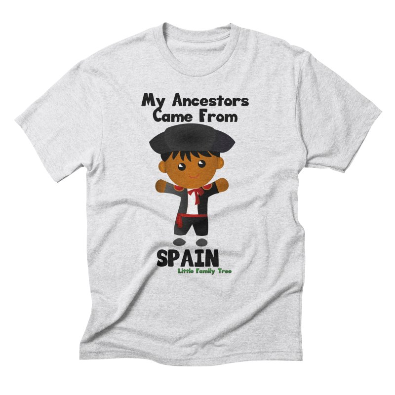 Spain Ancestors Boy Men's Triblend T-Shirt by Yellow Fork Tech's Shop
