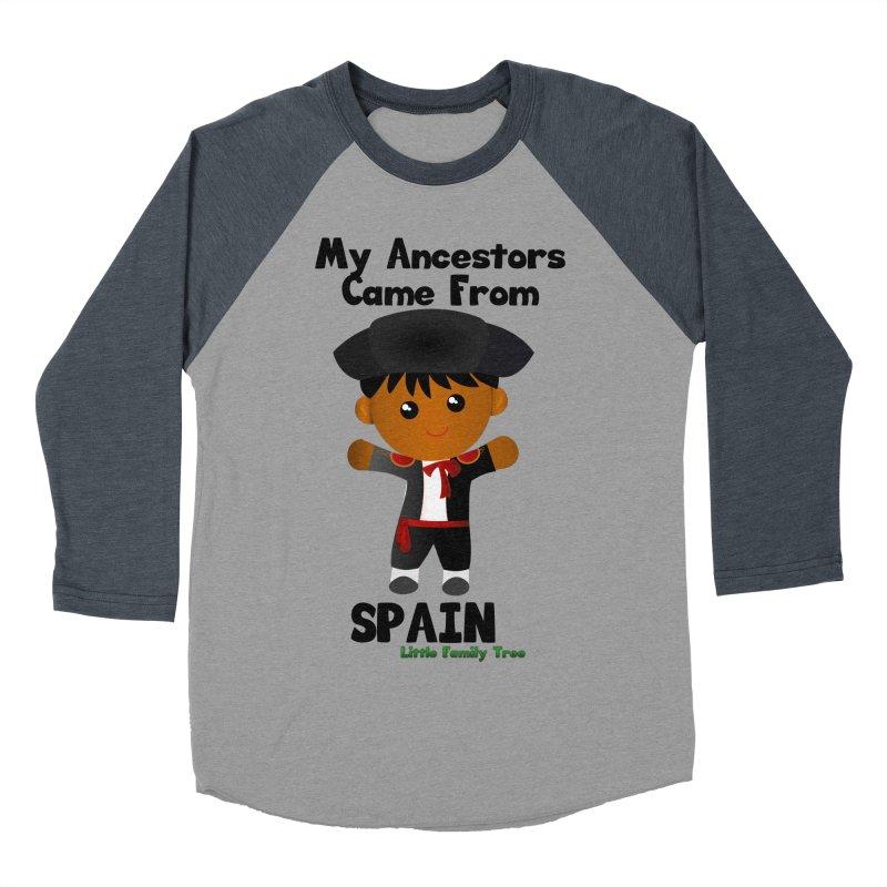 Spain Ancestors Boy Men's Baseball Triblend T-Shirt by Yellow Fork Tech's Shop