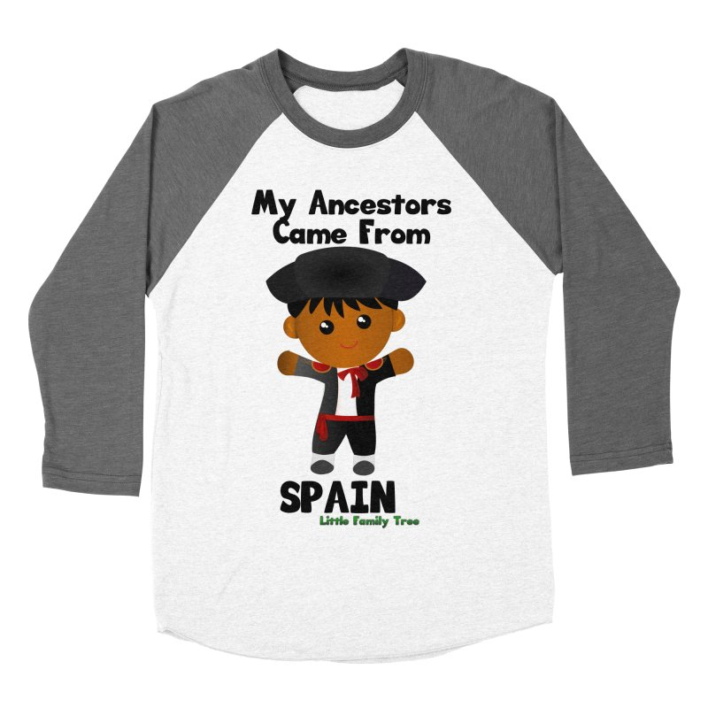 Spain Ancestors Boy Men's Baseball Triblend T-Shirt by Yellow Fork Tech's Shop