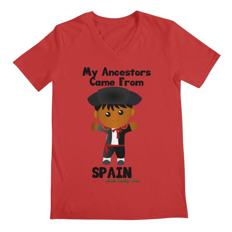 Spain Ancestors Boy Men's V-Neck by Yellow Fork Tech's Shop