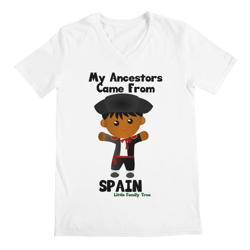 Spain Ancestors Boy Men's V-Neck by Yellow Fork Tech's Shop