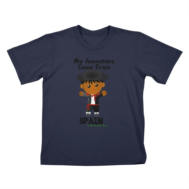 Spain Ancestors Boy Kids T-Shirt by Yellow Fork Tech's Shop