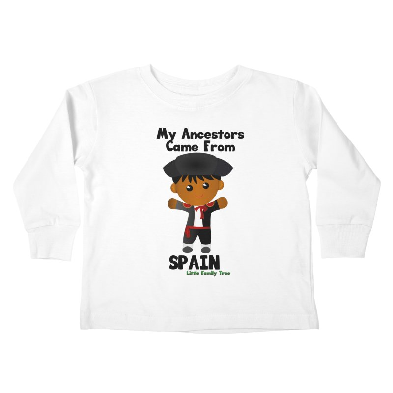Spain Ancestors Boy Kids Toddler Longsleeve T-Shirt by Yellow Fork Tech's Shop