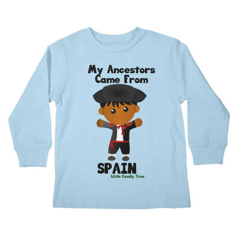 Spain Ancestors Boy Kids Longsleeve T-Shirt by Yellow Fork Tech's Shop