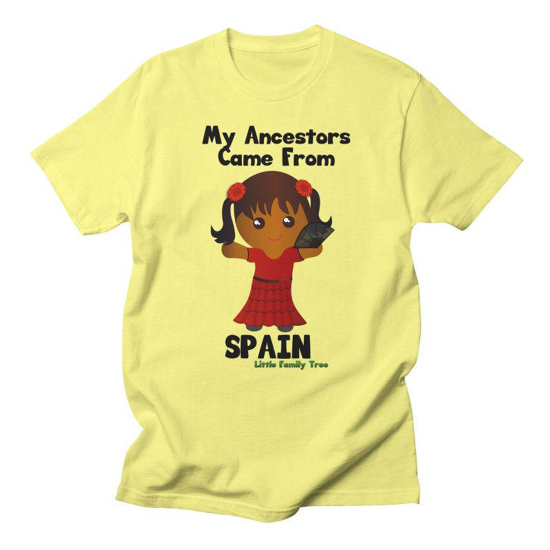 Spain Ancestors Girl Women's Unisex T-Shirt by Yellow Fork Tech's Shop