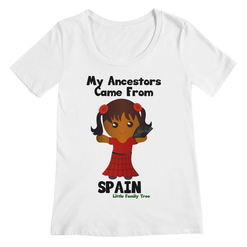 Spain Ancestors Girl Women's Scoopneck by Yellow Fork Tech's Shop