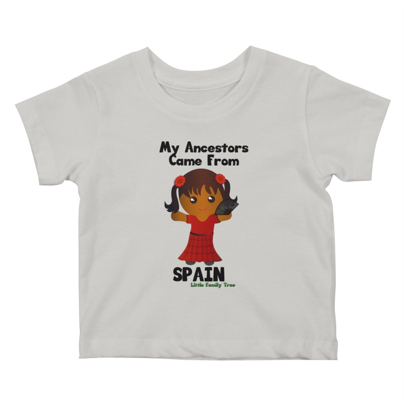 Spain Ancestors Girl Kids Baby T-Shirt by Yellow Fork Tech's Shop