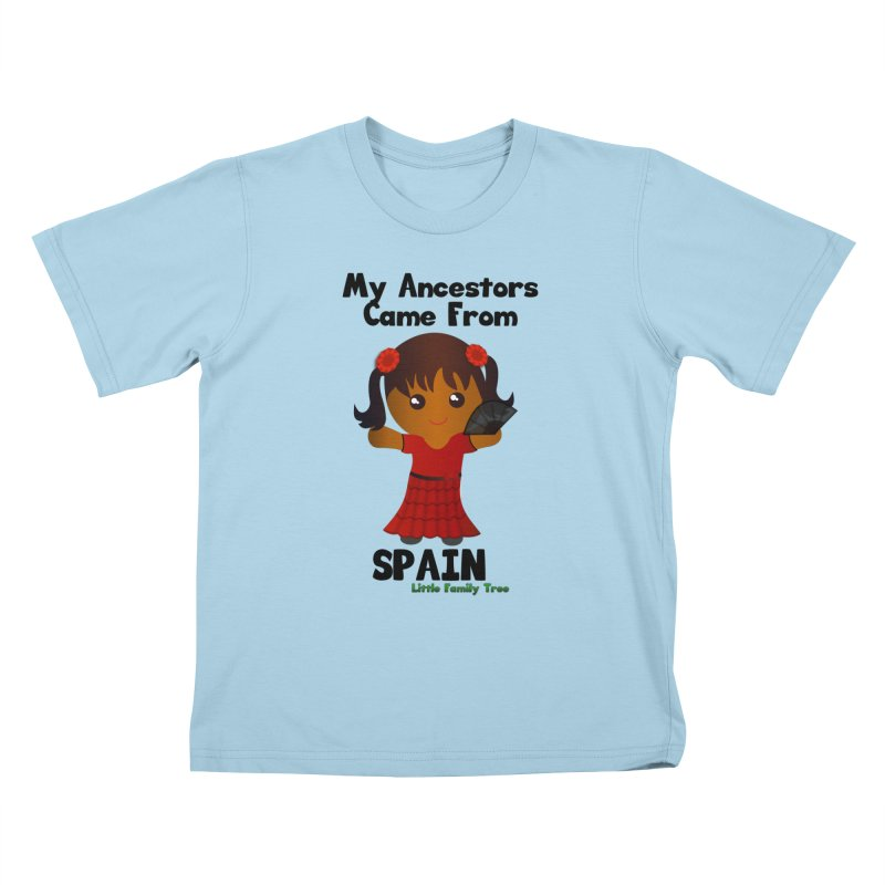 Spain Ancestors Girl Kids T-Shirt by Yellow Fork Tech's Shop