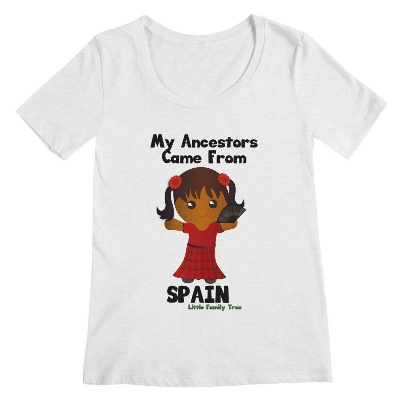 Spain Ancestors Girl Women's Scoopneck by Yellow Fork Tech's Shop