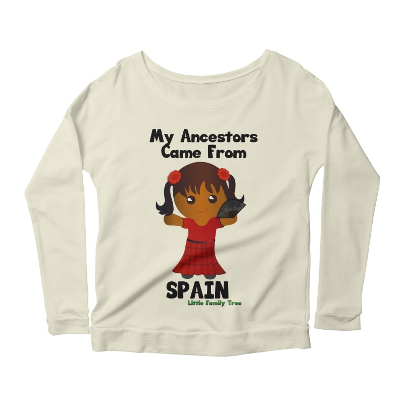 Spain Ancestors Girl Women's Longsleeve Scoopneck  by Yellow Fork Tech's Shop