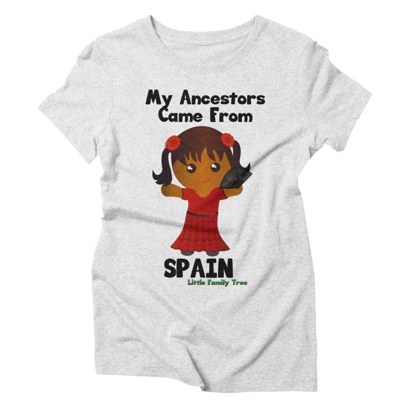 Spain Ancestors Girl Women's Triblend T-Shirt by Yellow Fork Tech's Shop