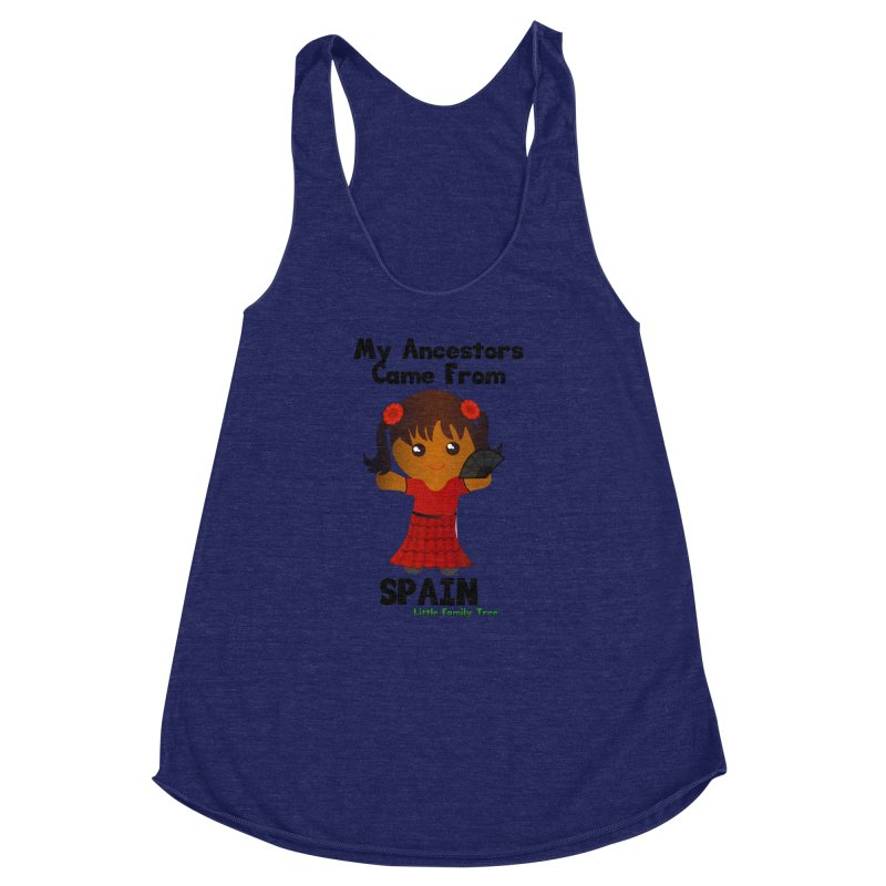 Spain Ancestors Girl Women's Racerback Triblend Tank by Yellow Fork Tech's Shop
