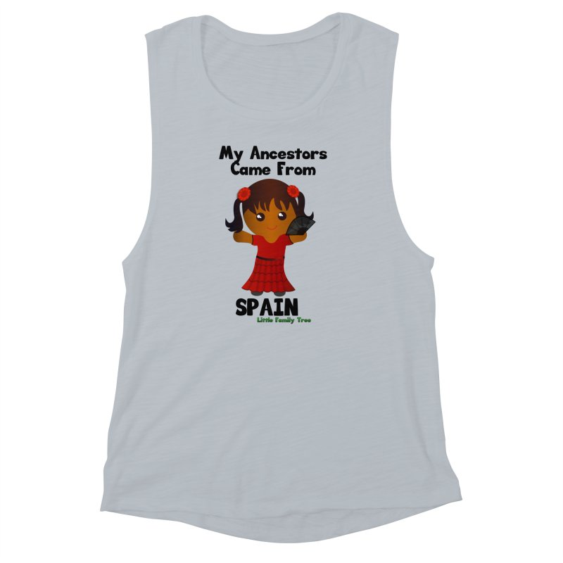 Spain Ancestors Girl Women's Muscle Tank by Yellow Fork Tech's Shop