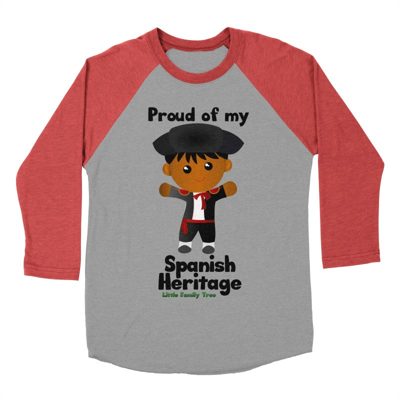Spanish Heritage Boy Men's Baseball Triblend T-Shirt by Yellow Fork Tech's Shop