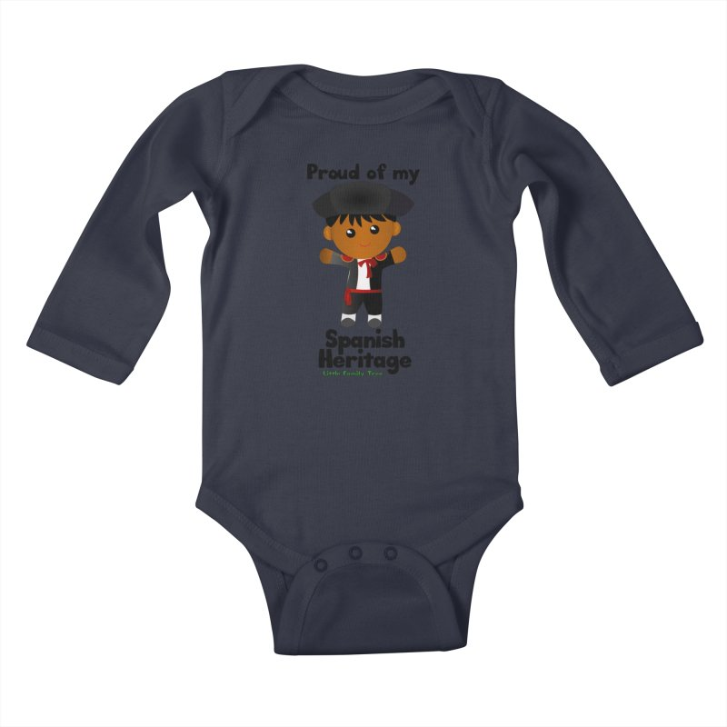 Spanish Heritage Boy Kids Baby Longsleeve Bodysuit by Yellow Fork Tech's Shop