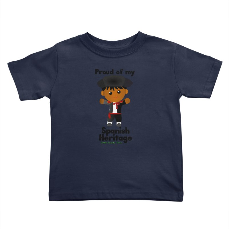 Spanish Heritage Boy Kids Toddler T-Shirt by Yellow Fork Tech's Shop