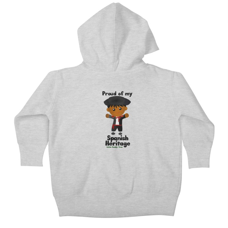 Spanish Heritage Boy Kids Baby Zip-Up Hoody by Yellow Fork Tech's Shop