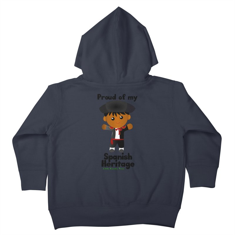 Spanish Heritage Boy Kids Toddler Zip-Up Hoody by Yellow Fork Tech's Shop