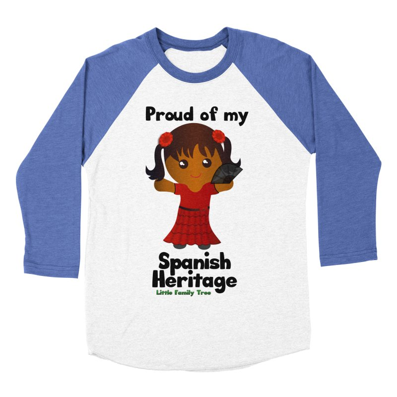 Spanish Heritage Girl Women's Baseball Triblend T-Shirt by Yellow Fork Tech's Shop