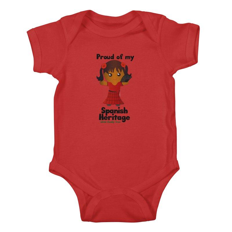 Spanish Heritage Girl Kids Baby Bodysuit by Yellow Fork Tech's Shop