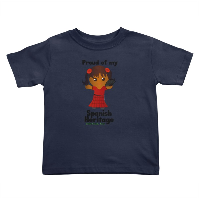 Spanish Heritage Girl Kids Toddler T-Shirt by Yellow Fork Tech's Shop