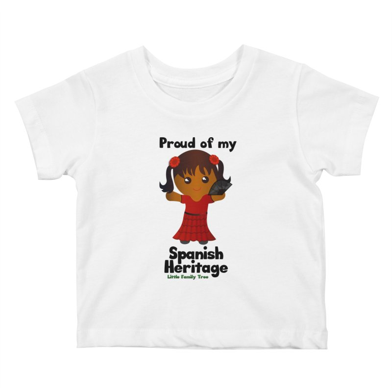 Spanish Heritage Girl Kids Baby T-Shirt by Yellow Fork Tech's Shop