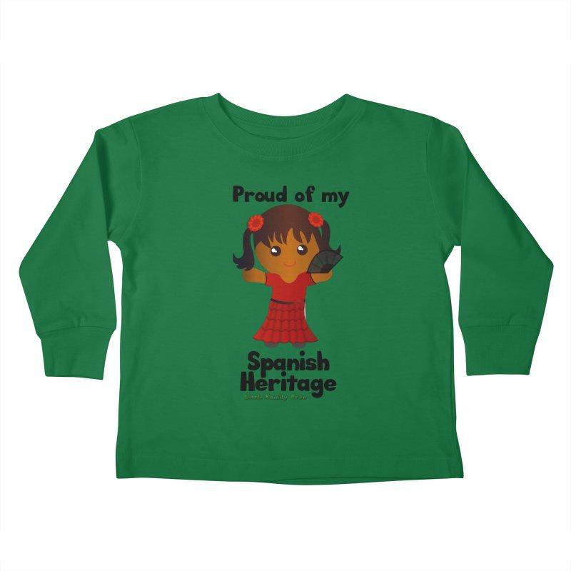 Spanish Heritage Girl Kids Toddler Longsleeve T-Shirt by Yellow Fork Tech's Shop