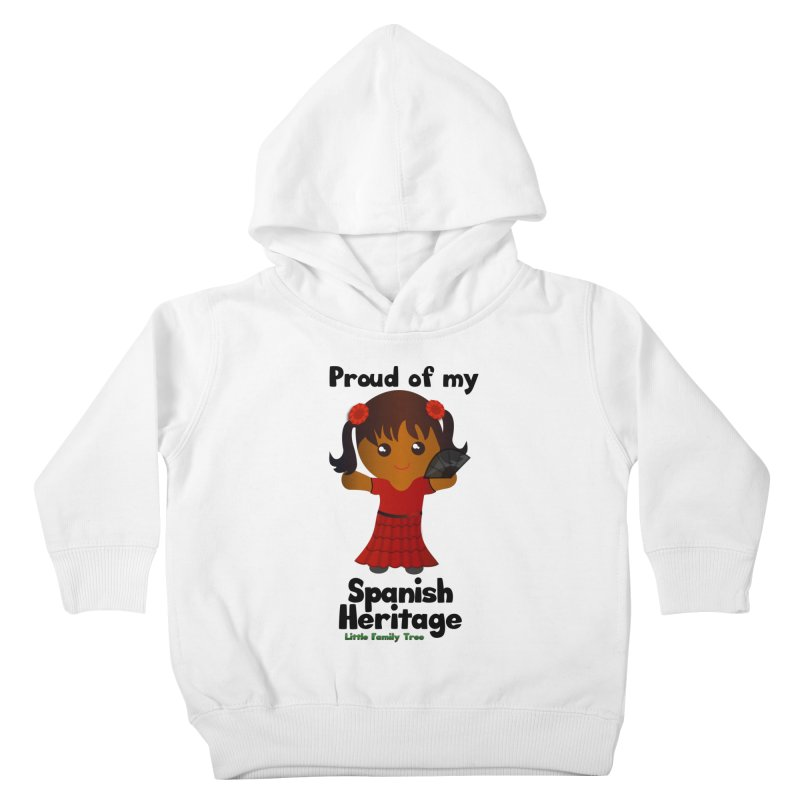 Spanish Heritage Girl Kids Toddler Pullover Hoody by Yellow Fork Tech's Shop