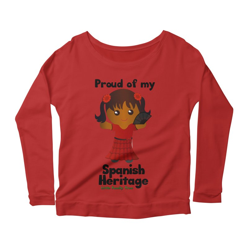 Spanish Heritage Girl Women's Longsleeve Scoopneck  by Yellow Fork Tech's Shop