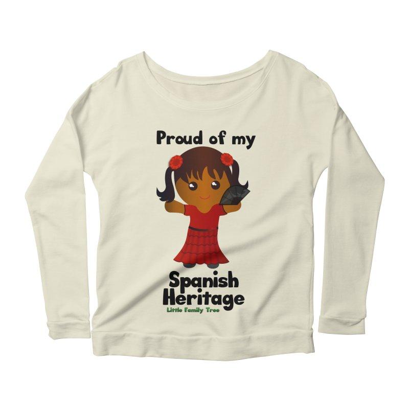 Spanish Heritage Girl Women's Longsleeve Scoopneck  by Yellow Fork Tech's Shop