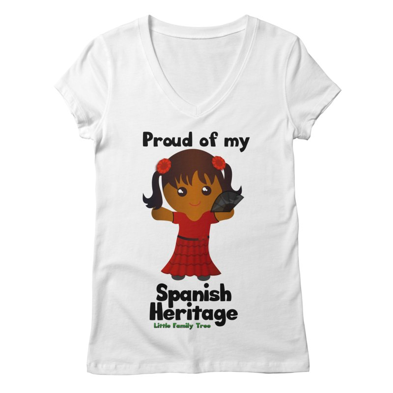 Spanish Heritage Girl Women's V-Neck by Yellow Fork Tech's Shop