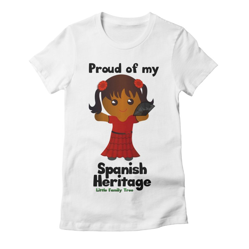 Spanish Heritage Girl Women's Fitted T-Shirt by Yellow Fork Tech's Shop