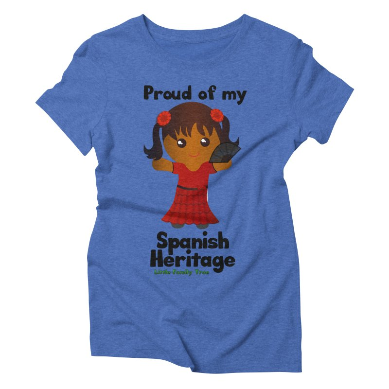 Spanish Heritage Girl Women's Triblend T-shirt by Yellow Fork Tech's Shop