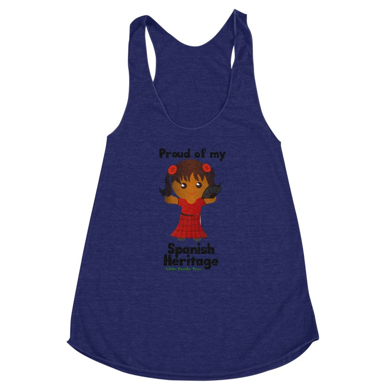 Spanish Heritage Girl Women's Racerback Triblend Tank by Yellow Fork Tech's Shop