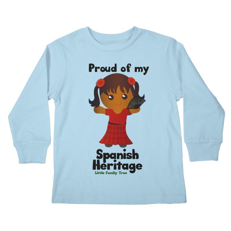 Spanish Heritage Girl Kids Longsleeve T-Shirt by Yellow Fork Tech's Shop