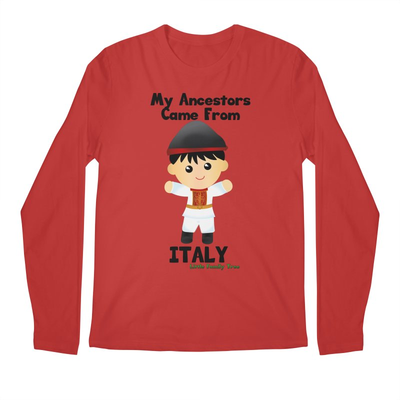 Italy Ancestors Boy Men's Longsleeve T-Shirt by Yellow Fork Tech's Shop