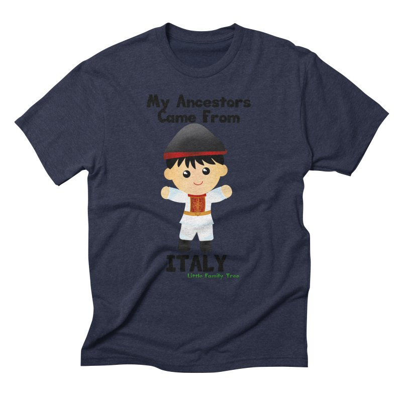 Italy Ancestors Boy Men's Triblend T-shirt by Yellow Fork Tech's Shop