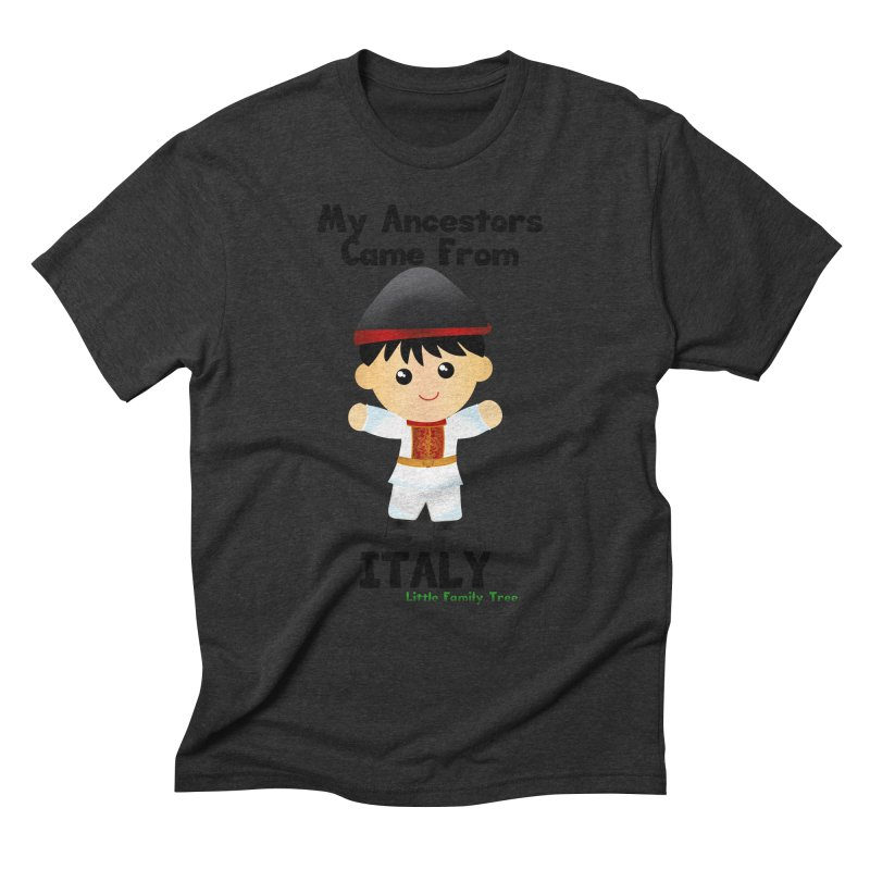 Italy Ancestors Boy Men's Triblend T-Shirt by Yellow Fork Tech's Shop