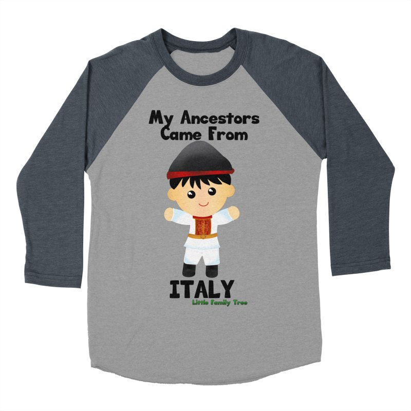 Italy Ancestors Boy Men's Baseball Triblend T-Shirt by Yellow Fork Tech's Shop