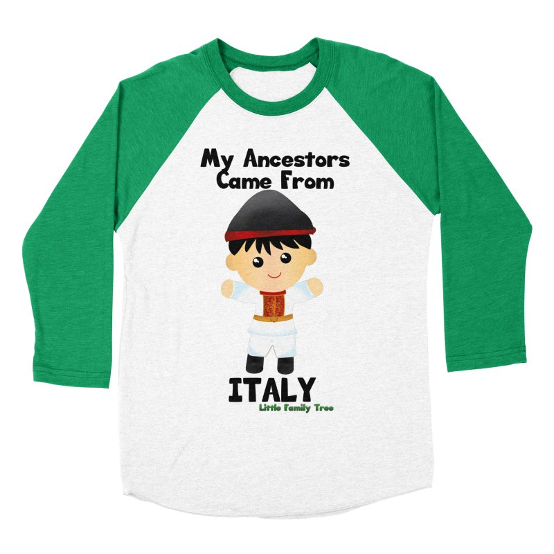 Italy Ancestors Boy Men's Baseball Triblend T-Shirt by Yellow Fork Tech's Shop