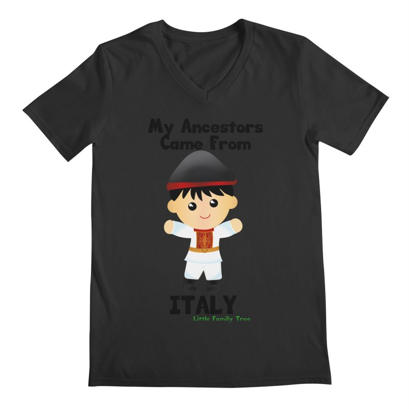 Italy Ancestors Boy Men's V-Neck by Yellow Fork Tech's Shop