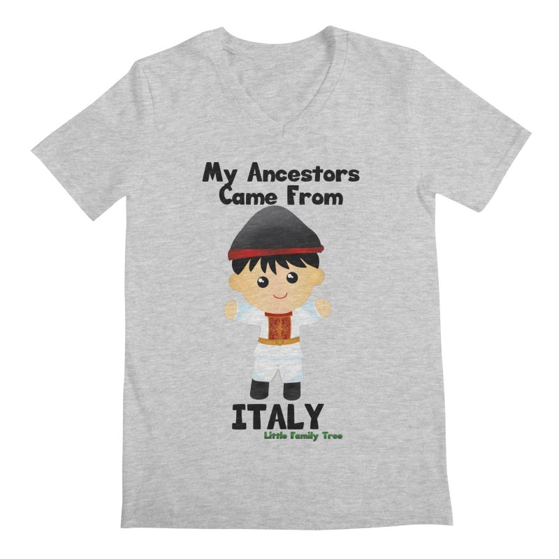 Italy Ancestors Boy Men's V-Neck by Yellow Fork Tech's Shop