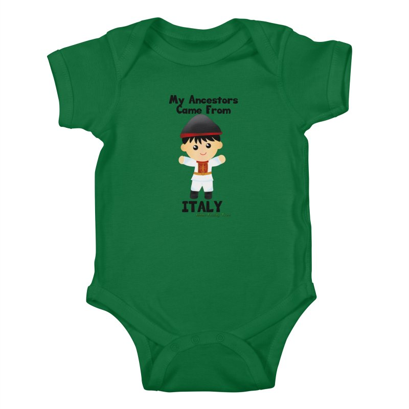 Italy Ancestors Boy Kids Baby Bodysuit by Yellow Fork Tech's Shop