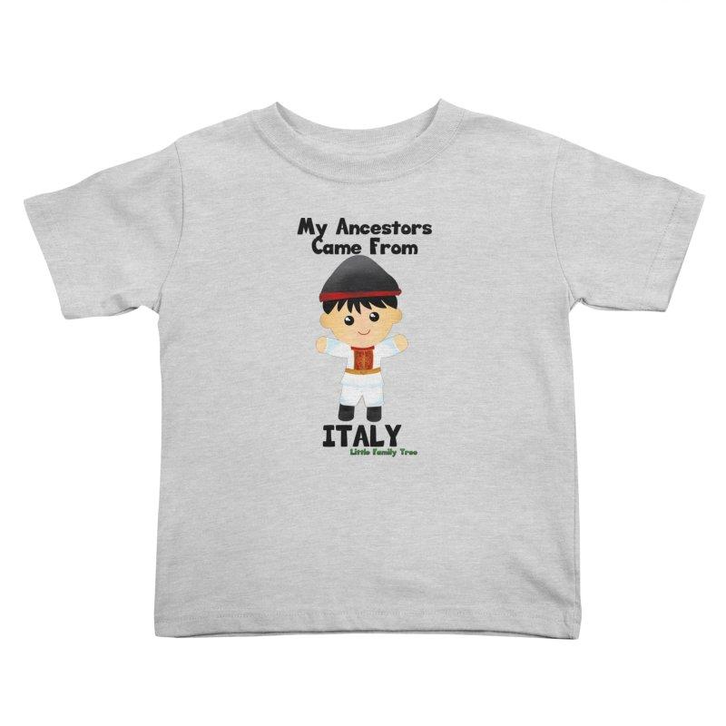 Italy Ancestors Boy Kids Toddler T-Shirt by Yellow Fork Tech's Shop
