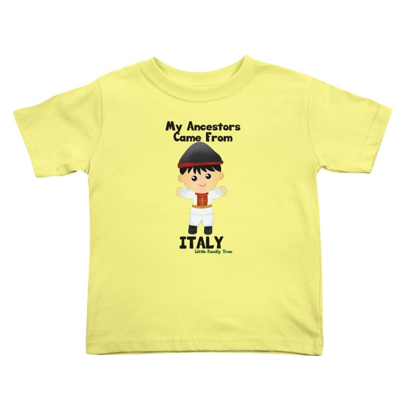 Italy Ancestors Boy Kids Toddler T-Shirt by Yellow Fork Tech's Shop