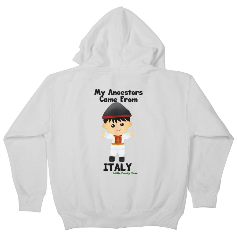 Italy Ancestors Boy Kids Zip-Up Hoody by Yellow Fork Tech's Shop