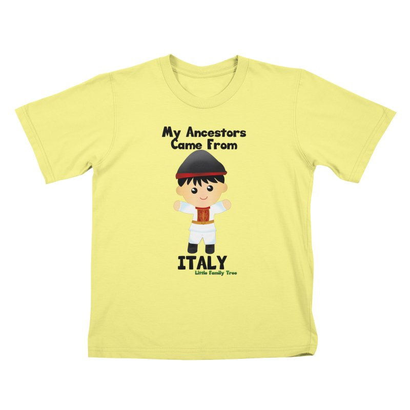 Italy Ancestors Boy Kids T-shirt by Yellow Fork Tech's Shop