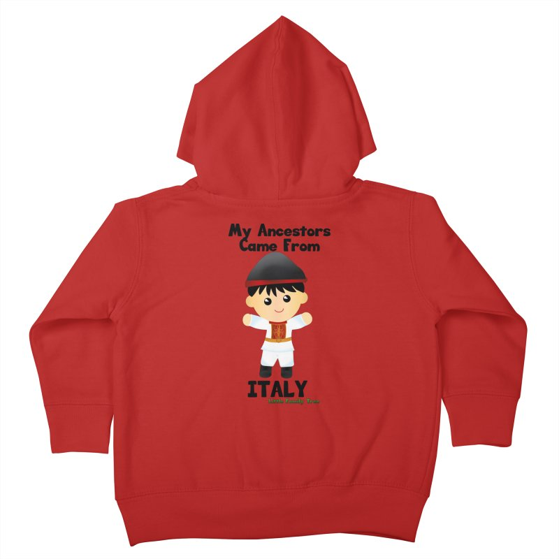 Italy Ancestors Boy Kids Toddler Zip-Up Hoody by Yellow Fork Tech's Shop
